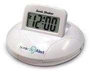 Sonic Shaker Vibrating Portable Travel Clock