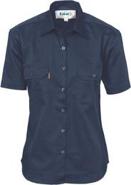 3231 - Ladies Cotton Drill Work Shirt, S/S