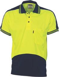 3891 - 175gsm HiVis Panel Polo Shirt, S/S