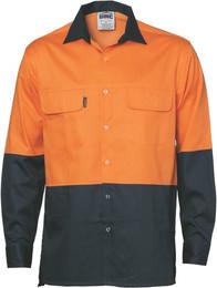 3838 - 190gsm HiVis Shirt w/Press Stud