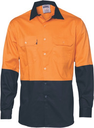 3732 - 155gsm HiVis Shirt with Vents, L/S