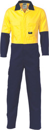 311gsm HiVis Two Tone Cotton Drill Coverall