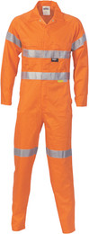 3854 - 311gsm HiVis Cotton Coverall with Tape