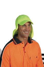 H023 - HiVis Cap with Flap