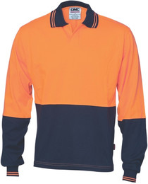 3906 - 200 gsm HiVis Jersey Food Industry Polo, L/S