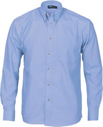 4122 - 110gsm Chambray Business Shirt, L/S