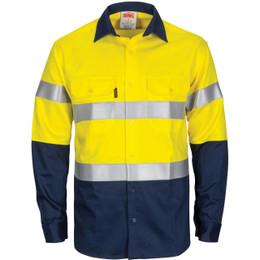 3409 - Paton Saint Flame Retardant 2 Tone Cotton Shirt with 3M F/R Tape - L/S