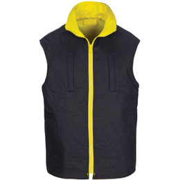 3765 HiVis Cotton Drill Reversible Vest with Generic R/Tape