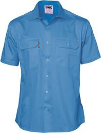 3201 - 190gsm Cotton Drill Work Shirt- S/S