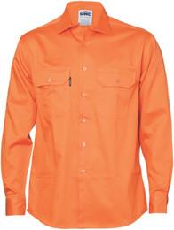 3202 - 190gsm Cotton Drill Work Shirt, L/S