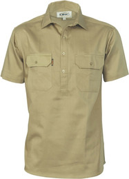 3203 - Drill Close Front Work Shirt, S/S