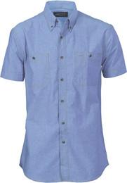 4101 - 155gsm Chambray Shirt, Twin Pocket, S/S