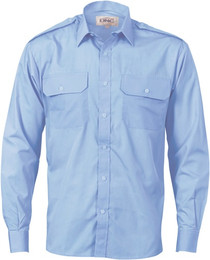 3214 - Epaulette Poly Cotton Work Shirt - L/S