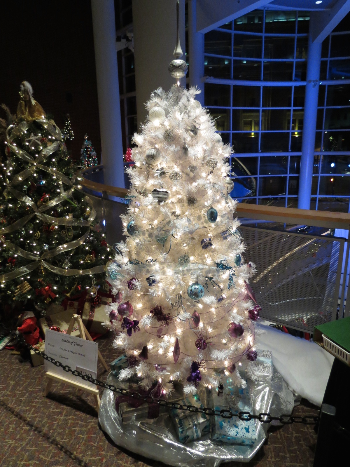 An Ombre Tree at the Akron Children s Hospital Christmas Tree