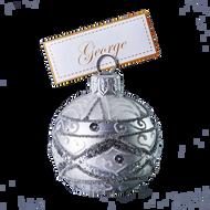 Hand crafted Christmas ornament Ornate sliver cardholder