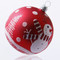 Red bauble with snowman handcrafted glass Christmas ornament