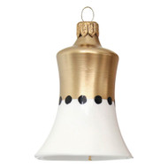 White Christmas bell with gold matte decor