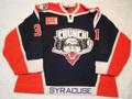 Syracuse Crunch 2002-03 Blue Pascal Leclaire Nice Wear!!