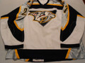 Nashville Predators 2003-04 White Jason York Great Wear Repairs!!