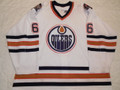 Edmonton Oilers 1996-97 White Jeff Norton Nice Wear!!