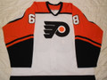 Philadelphia Flyers 2002-03 White Jeff Woywitka Pre-season Photomatched!!