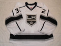 Los Angeles Kings 2015-16 White Jonathan Quick Nice Wear Photomatched!!