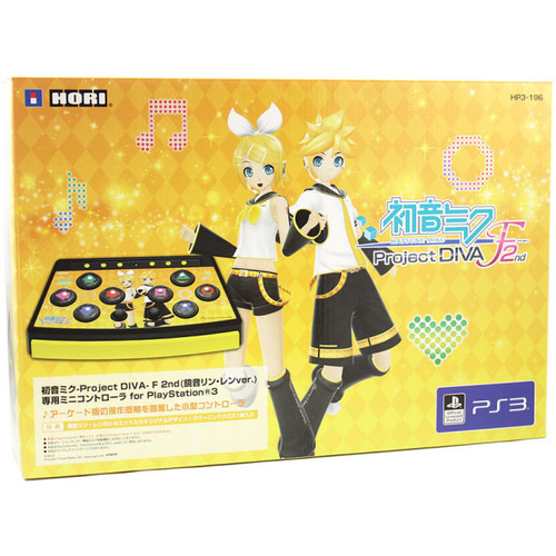 HORI Hatsune Miku Project Diva F 2nd Controller Mini feat Kagamine Rin and Len for PS3