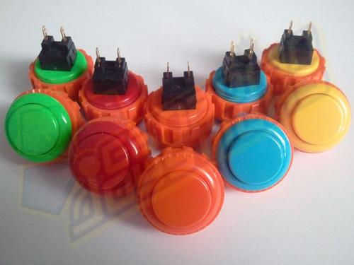 Sanwa Denshi OBSN-24 Solid Colour 24mm Screw-In Pushbutton