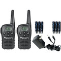 MIDLAND LXT118VP 22-CHANNEL GMRS RADIO PAIR VALUE PACK WITH CHARGER & RECHARGEABLE BATTERIES