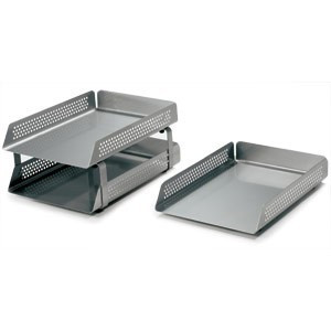 Perforated Steel Letter Tray 2 Tier