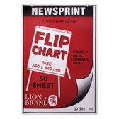 Flip Chart Pad A1 594x840mmx58gsm 50pg Bond JD590 Pun/Perf