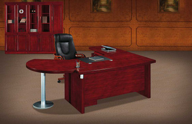 U Wing Executive Veneer Desk