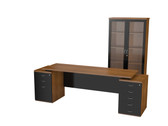 Nevada Main Desk Unit With System Cabinet