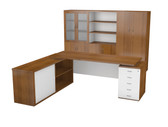Nevada Main Desk Unit With Pedenza Cabinet