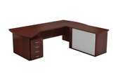 Everest Main Desk Unit With Credenza Cabinet