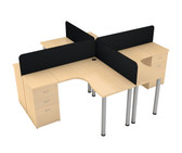 Nova Main Desk Unit With Rectangular Screen
