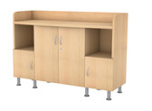 Server Base Unit With Half Hinge Doors
