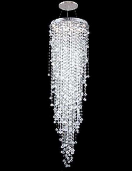 Modern Contemporary High ceiling Crystal Chandelier Pendant Light ...