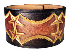 'Rock Star' Leather Wristband