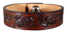 'Willows & Fireflies' Leather Bracelet