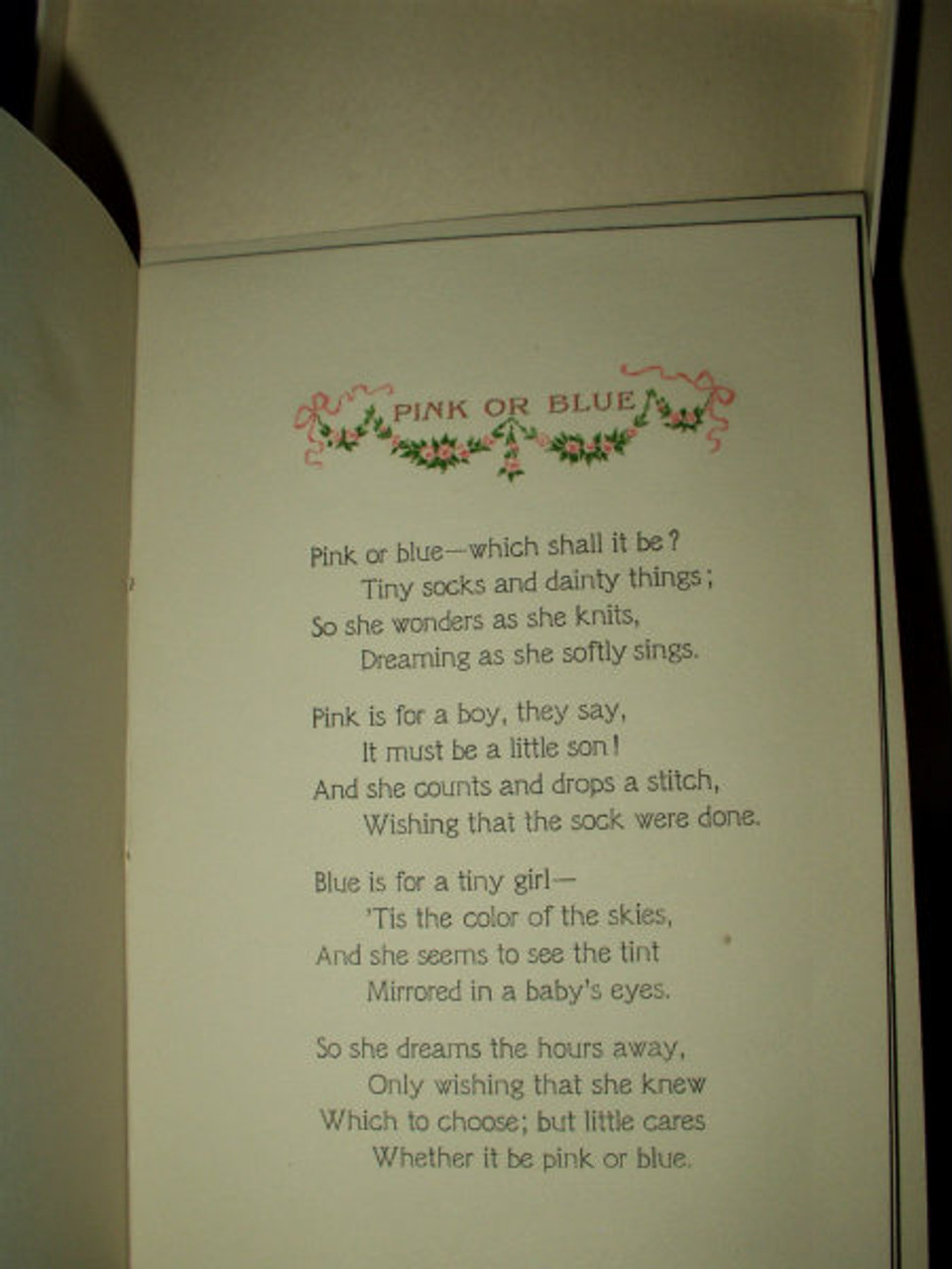 1917 When Mother Sings Baby Book In Box Clara Griffith Gazzam