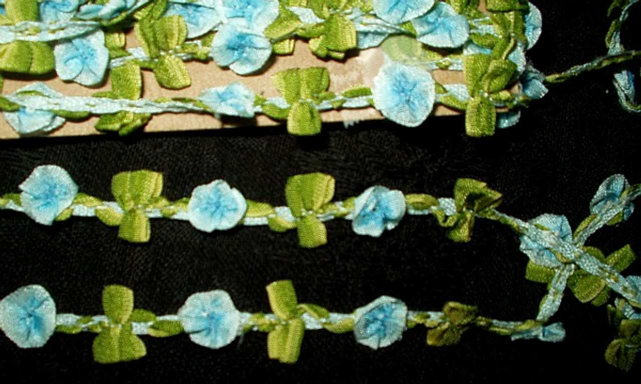 1920 Antique Silk Rayon Ribbon Rosette Dress Trim Yardage Crafts DIY Sewing