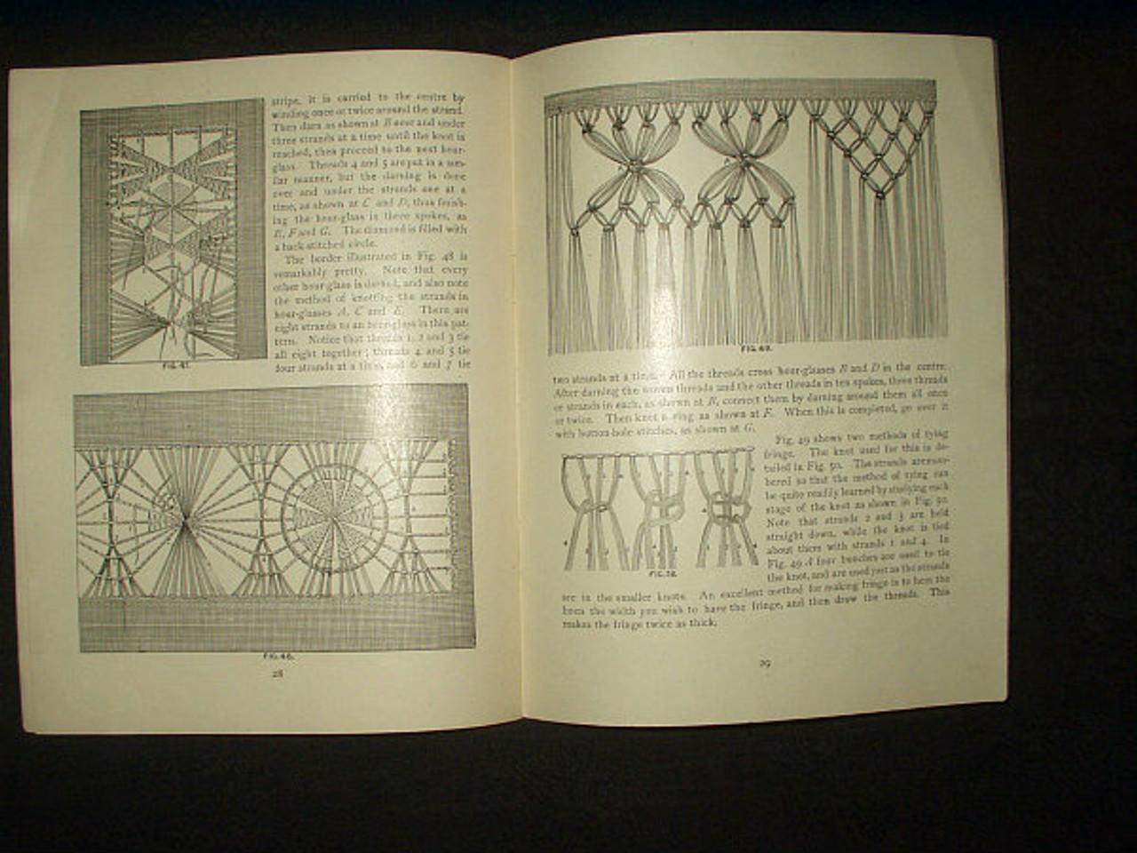 1899 Victorian Priscilla Publishing Book On Drawn Work Lace