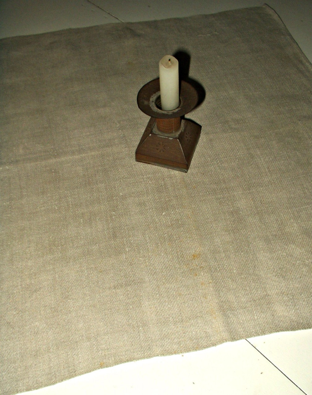 19th Century Country Primitive Hand Woven Homespun Table Mat Napkin