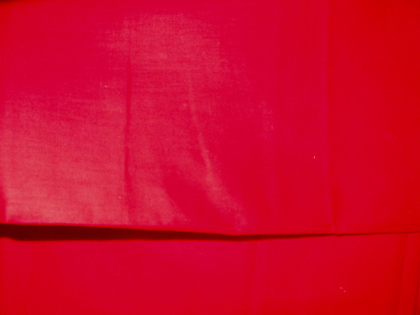 Vintage 1950s Red Broadcloth Dress Fabric Yardage