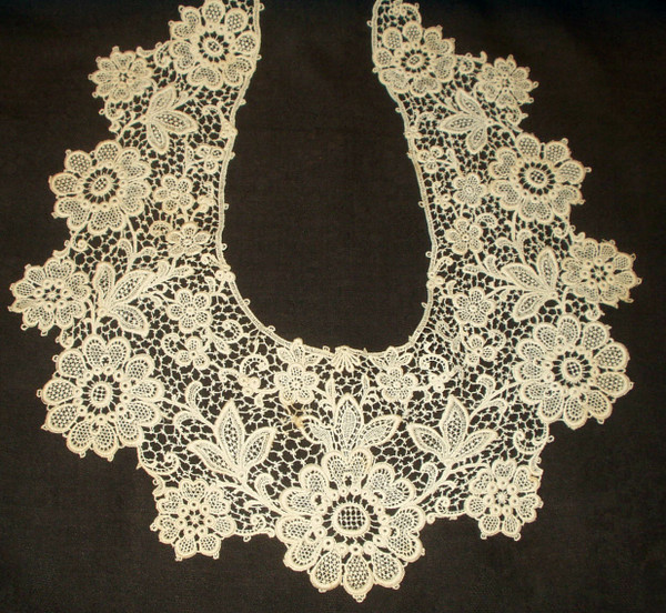 Antique Vintage Schiffli Machine Lace Victorian Edwardian Dress Collar