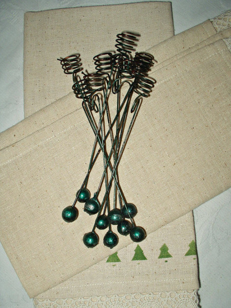 10 Antique Vintage 1900 Wire Spiral Christmas Candle Holder For Feather Tree