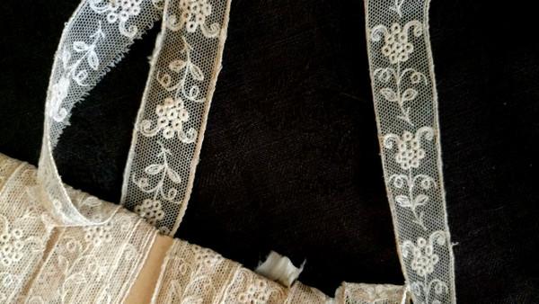 Lace Yardage Vintage 1920s Tulle Net Insertion Trim Ecru Color