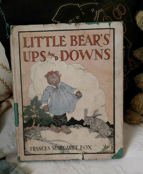 Little Bear Ups And Downs Storybook Dustjacket Frances Margaret Fox 1923 Rand McNally