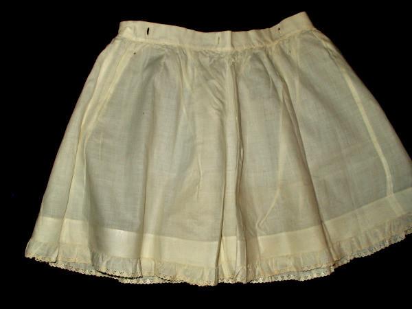 Antique Victorian 1900s Child Petticoat With Whitework Trim